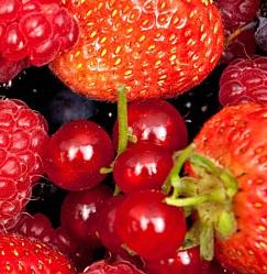 červené ovoce